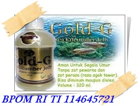 Obat Penyempitan Tulang punggung tradisional herbal nan alami dengan JELLY GAMAT GOLD-G BIO SEA CUCUMBER